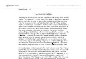 Essay About Summer Holidays by Essay About Summer