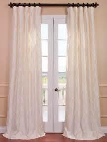 White Silk Curtains Alexandria White Taffeta Faux Silk Curtain Traditional Curtains San Francisco By
