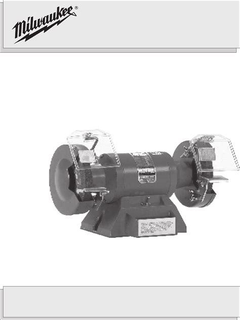 milwaukee bench grinder 5051 milwaukee grinder 4991 user guide manualsonline com