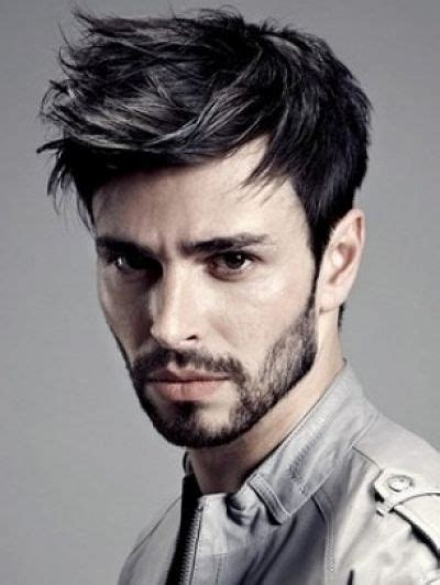 Mens Hairstyles Pulled Forward | messy pulled forward hairdo for men short hairstyles for