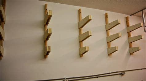 Wall Mounted Lumber Storage Rack white diy wall mounted lumber rack featuring