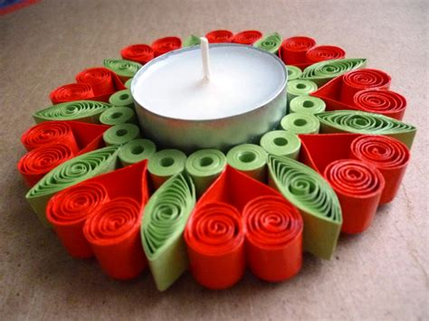 one day craft projects pap 237 rvil 225 g quilling gyertyatart 243 quilled candle holder