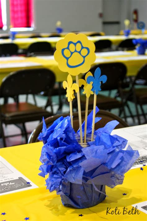 koti beth cub scout blue and gold centerpieces with free