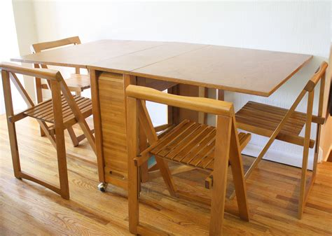 Folding Table With Chair Storage Folding Table With Chair Storage Furniture Ideas