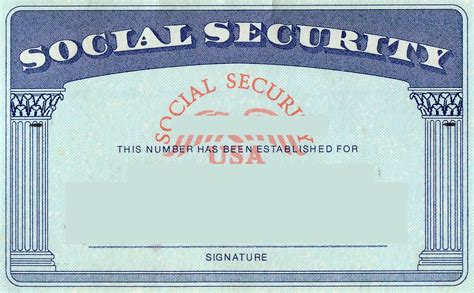 security id card template blank social security card template social security card