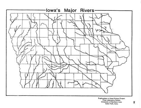 map of iowa rivers iowa s major rivers