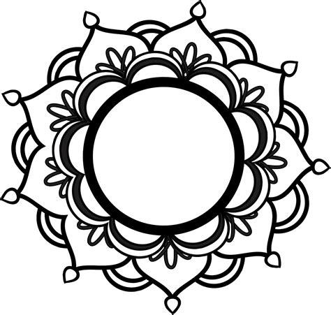 free printable clip top 93 free mandalas clip free clipart image