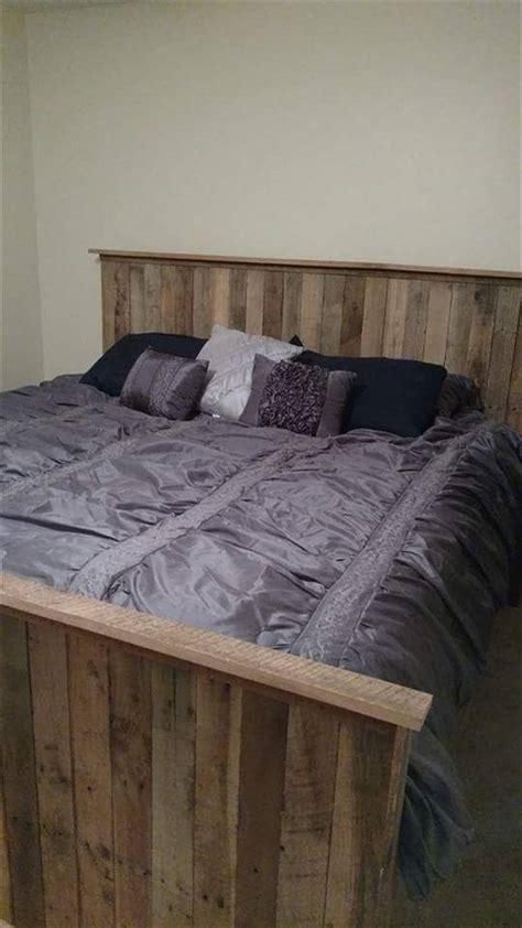 king size pallet bed king size pallet bed with crate storage 101 pallets