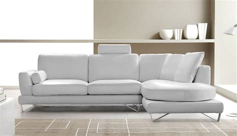White Sectional Leather Sofa Modern Mesto Modern Leather White Sectional Sofa