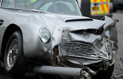 aston martin vintage james bond 163 1million james bond style aston martin db5 written off in