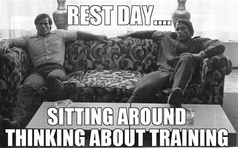 Rest Day Meme - the truth about rest days crux crush
