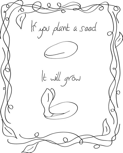 free coloring pages of planting a seed
