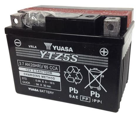 Ytz5s Yuasa 3 5ah Yuasa Ytz5s Bs Agm Battery Revzilla
