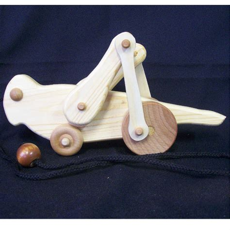 Handmade Childrens Toys - handmade wooden animated grasshopper pull ss woodcraft