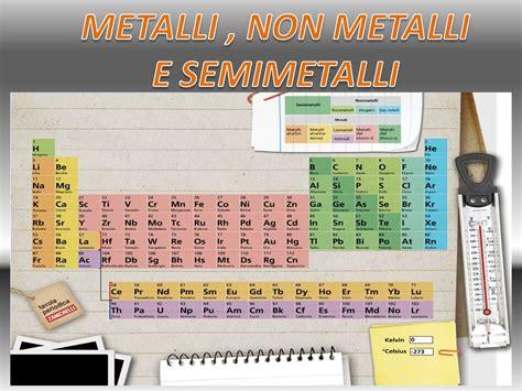 tavola periodica semimetalli metalli non metalli e semimetalli ppt