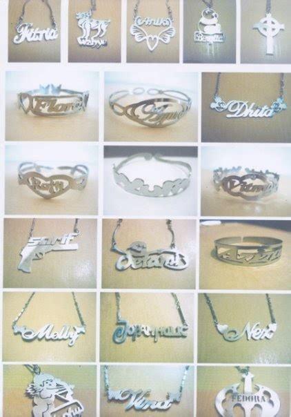 Kalung Baja Putih fashioniez shop kalung gelang cincin ukir nama bahan baja putih monel