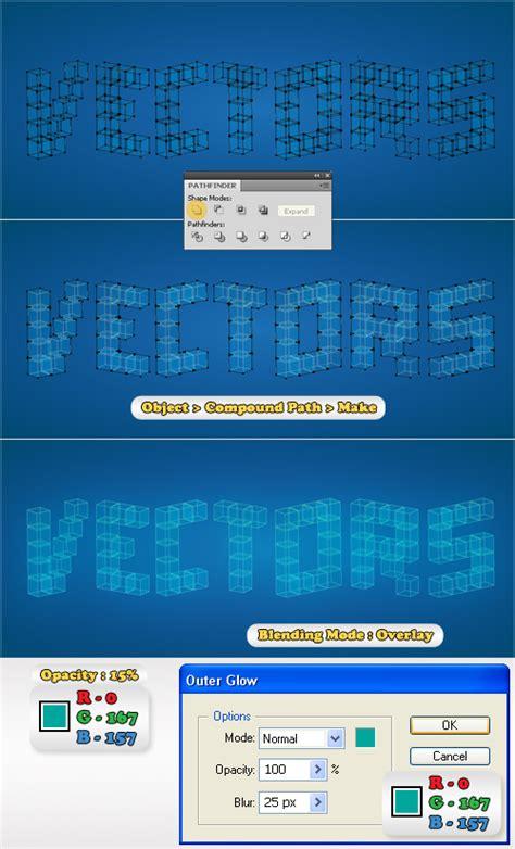 tutorial illustrator text 3d illustrator tutorial 3d cubic text effect illustrator