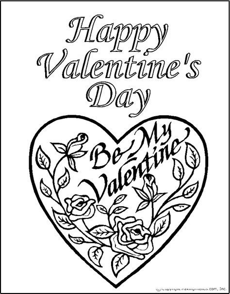 printable valentines day coloring pages coloring pages day roses printable