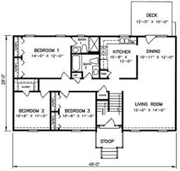 Split Level House Floor Plans 1970s Split Level House Plans Split Level House Plan 26040sd Pertaining To Split Level Floor