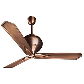 antique copper ceiling fan crompton greaves kalash astha 3 blades 1200mm ceiling fan