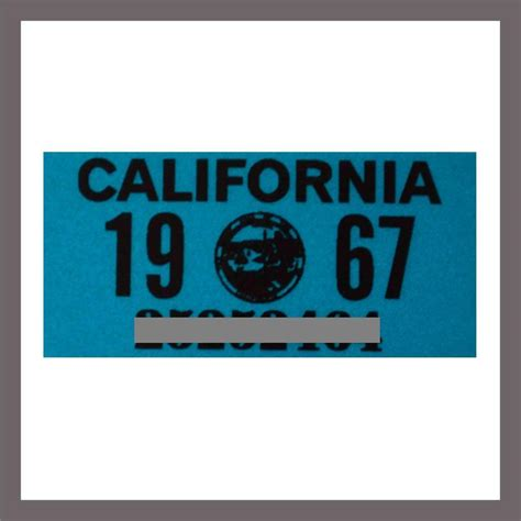 Sticker Plat California Santa 1967 california yom dmv motorcycle license plate sticker tag ca 1963 plate 21 95 picclick