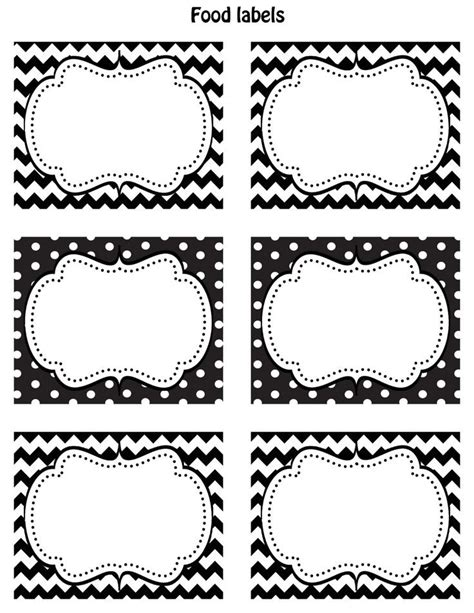 printable tags vector free printable labels black and white blank