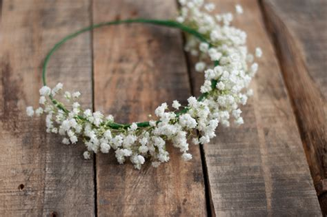 Flower girl hair wreath diy easy