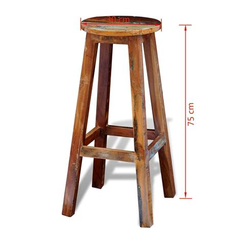 solid wood bar stools uk vidaxl co uk reclaimed solid wood high bar stool