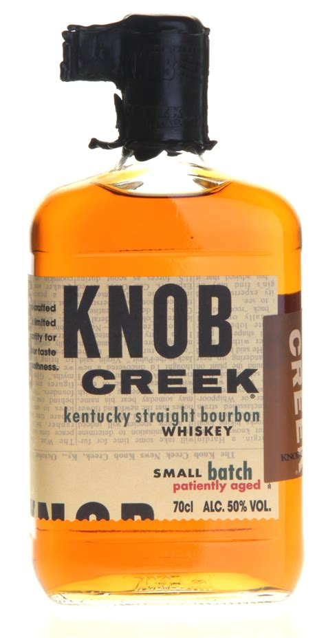 knob creek kentucky bourbon whiskey patiently