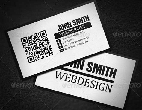 business card with qr code template 34 best qr code business card exles identity mockups