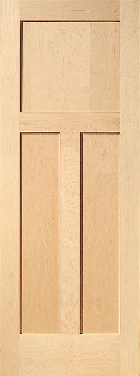 Maple Interior Door Maple Mission 3 Panel Wood Interior Door Homestead Doors