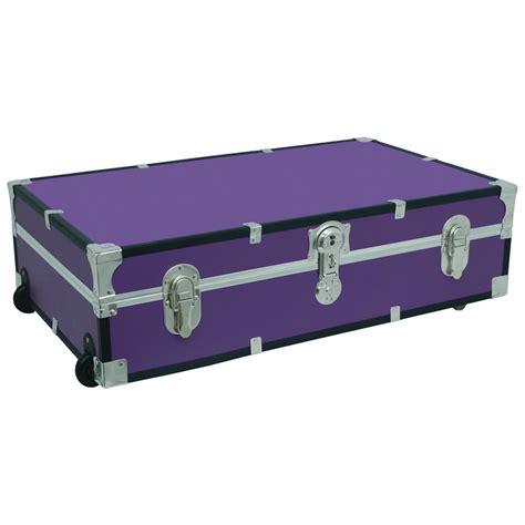 trunk bed seward trunk under the bed footlocker purple storage trunk