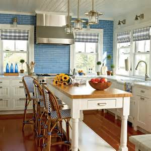 country kitchen decor colorful cozy spaces coastal living