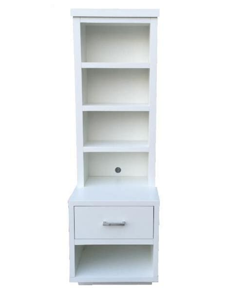 narrow nightstand with drawers pu finish tall bedside tables with drawers white narrow