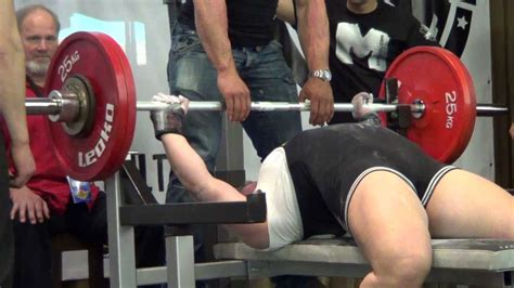 world record for bench pressing wpc bench press world record attempt anna karrila 132 5 kg