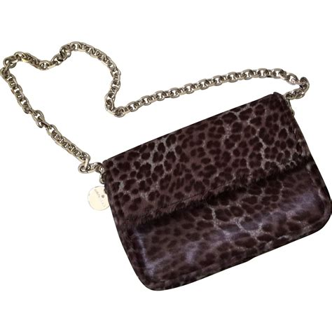 Of Invention Yudit M Handbags Wwd by Judith Leiber Leopard Print Ponyhair Bag Pristine From
