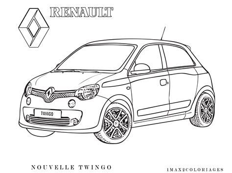 Coloriages Nouvelle Renault twingo 2014 a colorier