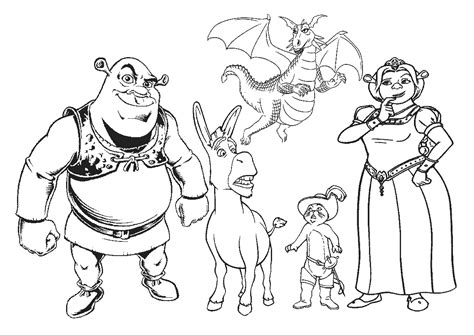 elvenpath coloring pages shrek