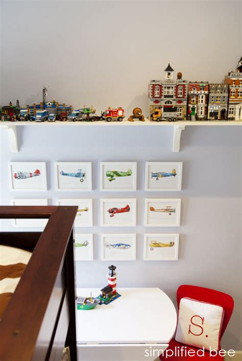 shelves for boys bedroom vintage airplane art archives simplified bee