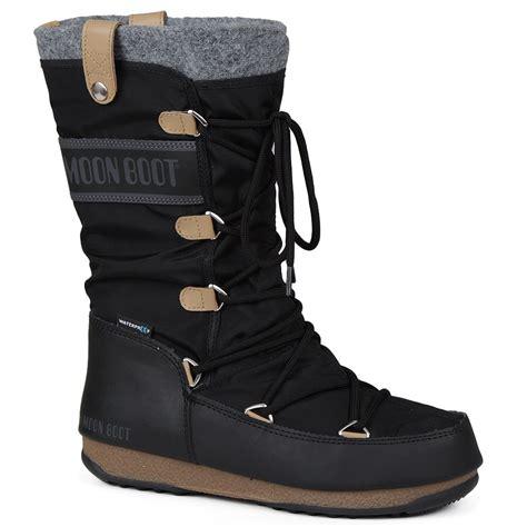 moon boots womens moon boot by tecnica monaco felt boot s ebay