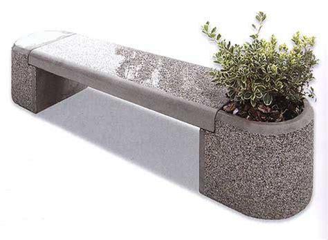 panchine in cemento prezzi panchina in cemento con fioriera per parchi e giardini