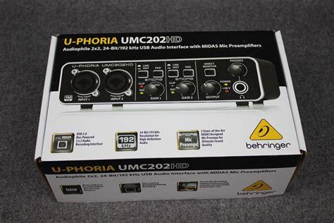 Soundcrad Behringer Umc 202 Hd behringer u phoria umc 202 hd interface usb 24bits pre midas 2 649 00 en mercado libre