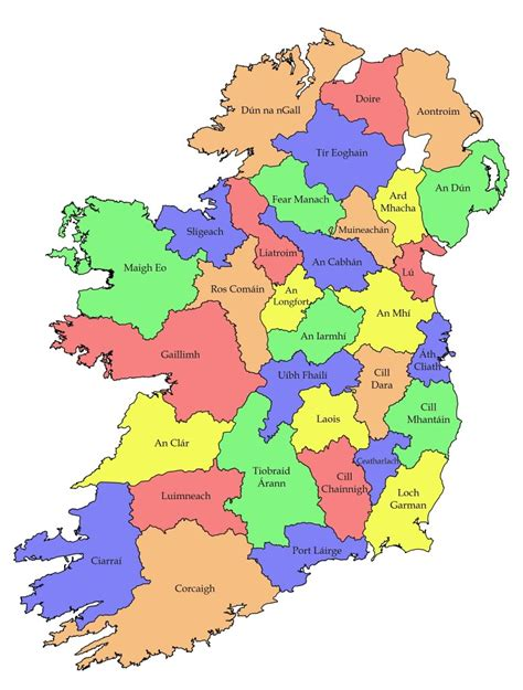 ireland county map ireland clipart ireland map pencil and in color ireland