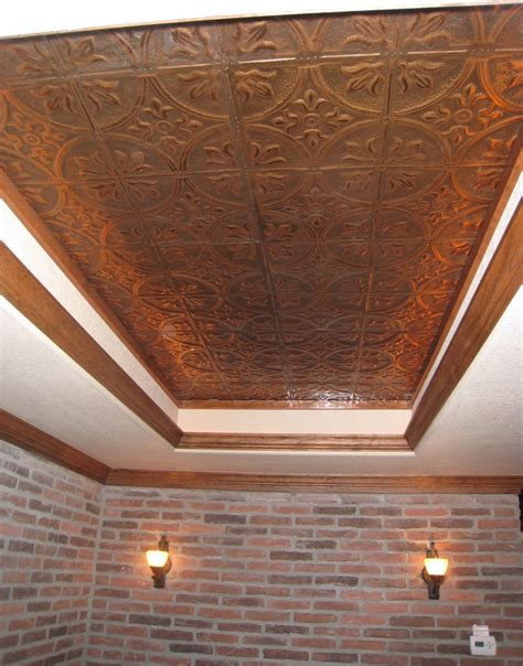 copper ceiling tiles kitchen traditional with bar bar