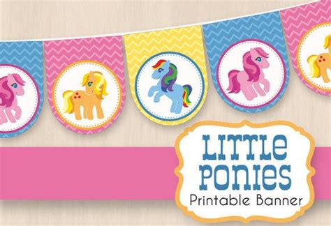 printable birthday banner my little pony 17 best images about my little pony party on pinterest