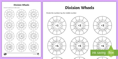 wheels activity table division wheels activity sheet division wheels times tables