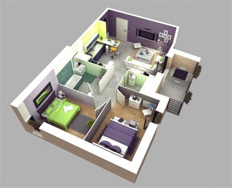 plan appartement 2 chambres plan maison 3 chambres 3d