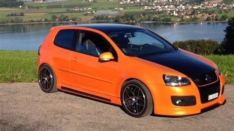 orange volkswagen gti golf orange