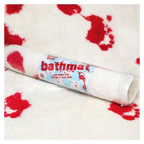 Bloody Footprint Bath Mat by Blood Bath Shower Mat Horror Fans Gift Ebay