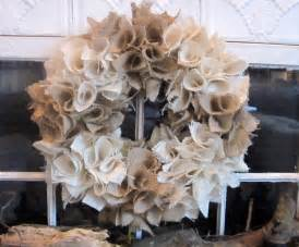 how to make a burlap wreath with two colors to earth style burlap wreaths